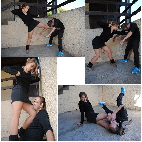 Mixed wrestling power girl domination 9